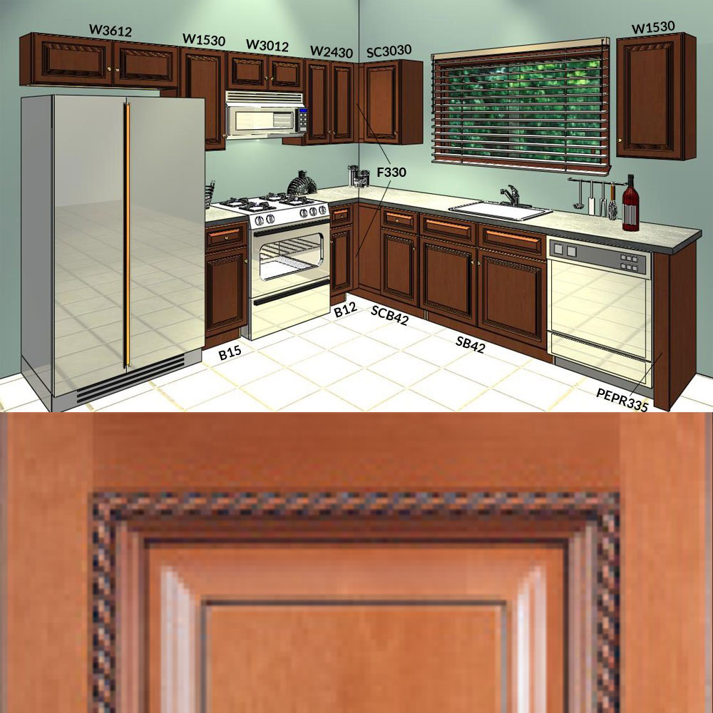 10 Sienna Rope Kitchen Cabinets Group 1
