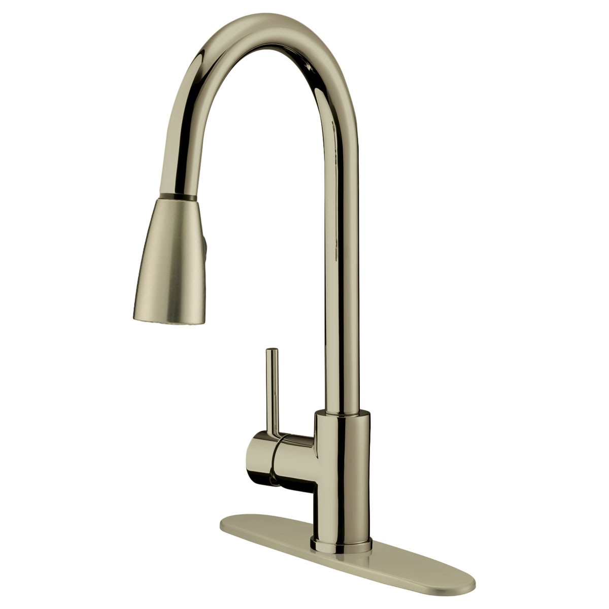 LK4B PULL OUT KITCHEN FAUCET, BRUSHED NICKEL FINISH - Cabinet ERA ...