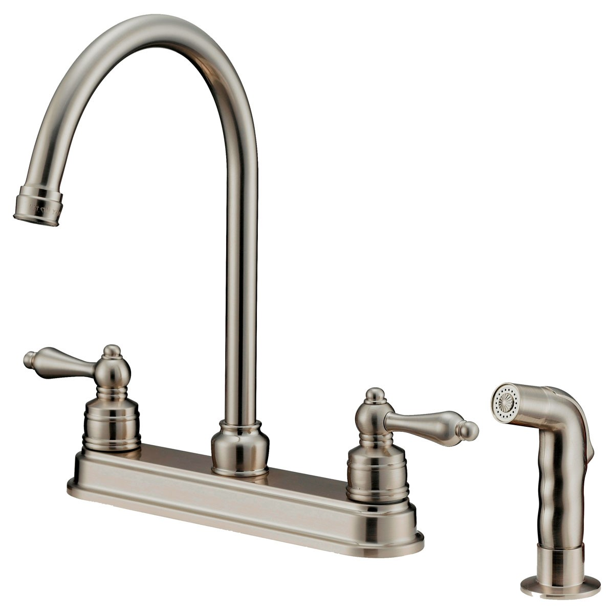 LK8B KITCHEN FAUCET WITH SHOWER SPRAYER, BRUSHED NICKEL - Cabinet ...